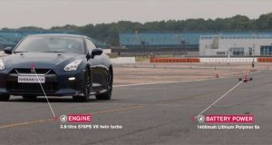 Nissan GT-R Drone vs Nissan GT-R Sports Car