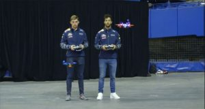 Red Bull F1 Pilots Verstappen Ricciardo Drone Racing