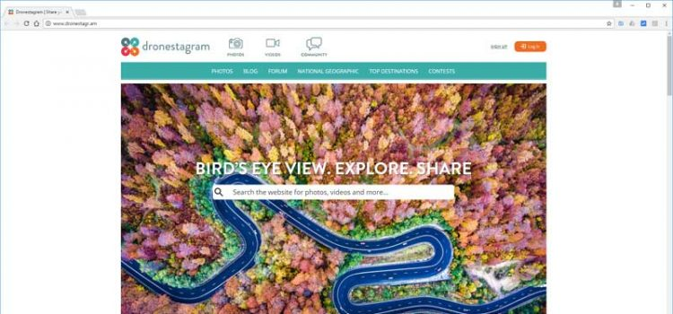 Dronestagram drone photo sharing website