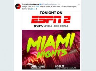 2017 DRL Drone Racing League Season Opener on ESPN2