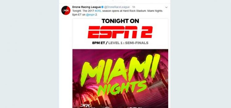 DRL The Drone Racing League Season Opener on ESPN2