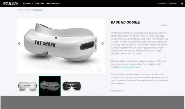 Fat Shark BASE HD FPV Digital Goggles