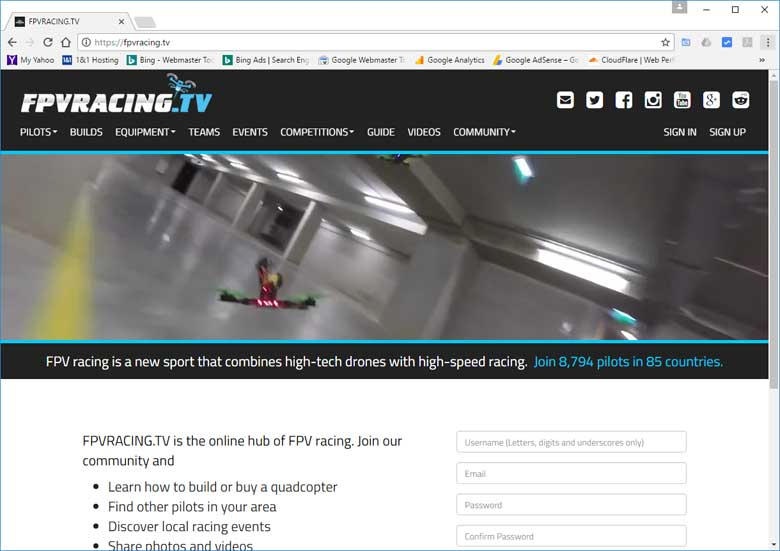 Best Drone Racing Website FPVRacing.TV