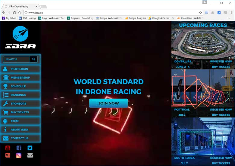 Best Drone Racing Website IDRA