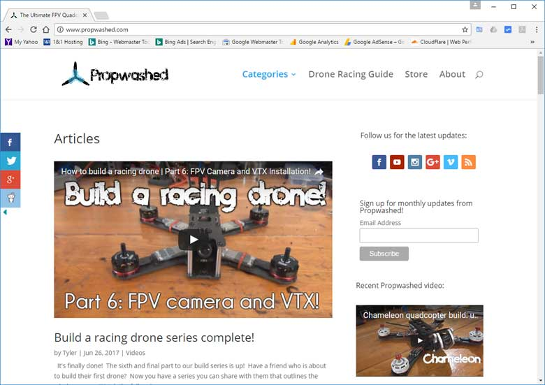 Best Drone Racing Website Propwashed
