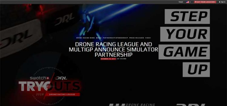Drone Racing League MultiGP Drone Racing Simulator Partnership Announcement