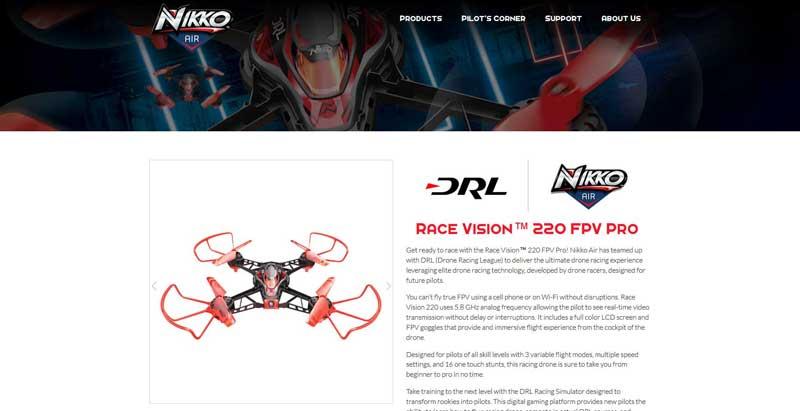 Nikko Air Race Vision™ 220 FPV Pro